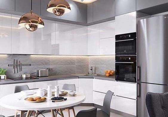 Кухни на заказ в стиле модерн